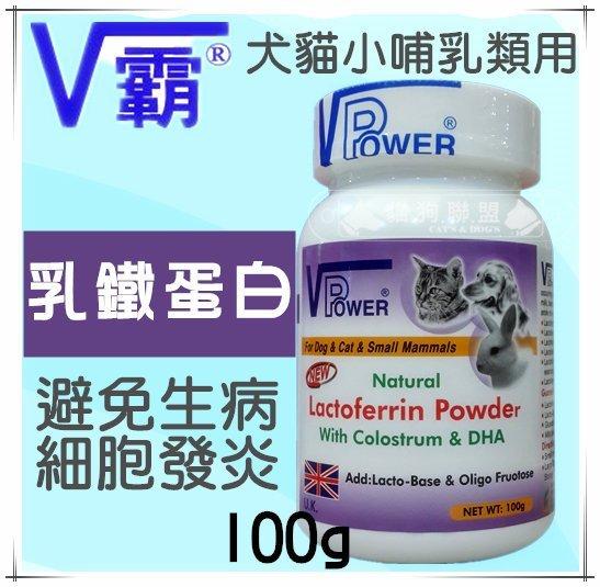 +貓狗樂園+ 英國V Power【V霸。乳鐵蛋白粉。100g】345元 - 限時優惠好康折扣