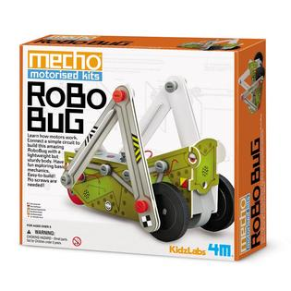 【4M 創意 DIY】Mecho Motorised Kit - Robo Bug 小小工程師-彈跳蹦蹦車