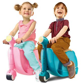 英國【Skoot Case】拉風旅行速克達摩托車行李箱(甜美粉)