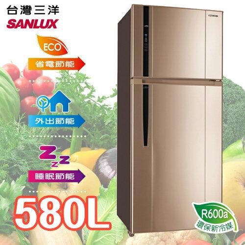SANLUX SANYO 台灣三洋 580L雙門直流變頻冰箱 SR-B580BV