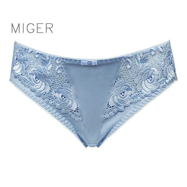 【MIGER密格內衣】法式朵朵蕾絲中低腰三角內褲-台灣製-(編號:1999P)
