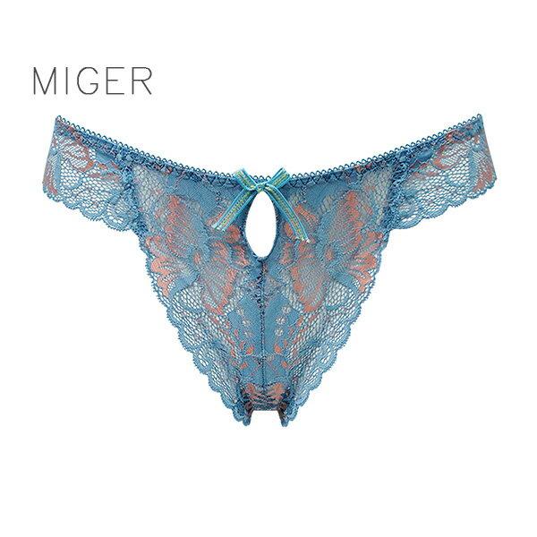 【MIGER密格內衣】撫媚蕾絲性感中低腰丁字褲-台灣製-(編號:8663)