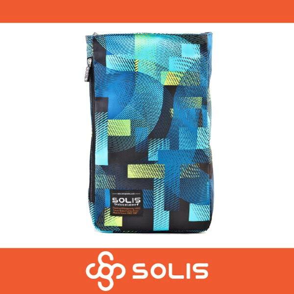 萬特戶外運動 SOLIS B09006 馬戲團系列多功能方型平板電腦背包 後背包 側背包 藍綠色