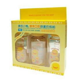 『121婦嬰用品館』黃色小鴨PES葫蘆奶瓶組 0