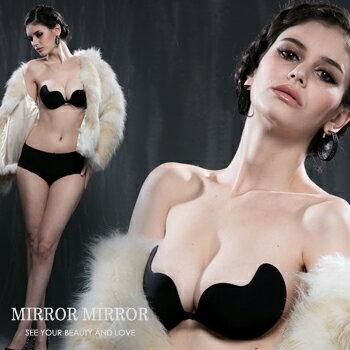 [ 限時3天 滿500結帳現折$100 ] 弧形側翼式隱形胸罩(黑)-睡衣,馬甲福利超低價)