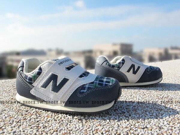 Shoestw【FS996NPI】NEW BALANCE 996 學布鞋 童鞋 運動鞋 小童 藍格紋 金標