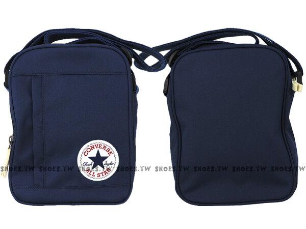 Shoestw【13635C410】CONVERSE 側背包 多功能小側包 藏青色 男女都適用