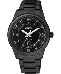 CITIZEN星辰FE1104-55E全黑時尚百搭光動能女錶/黑面36mm