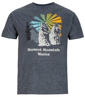 【鄉野情戶外用品店】 Marmot |美國| 土撥鼠 圓領短袖排汗衣 男款/混紡吸濕排汗 機能衣/53610