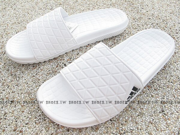 Shoestw【AQ5912】ADIDAS X16 SLIDE 拖鞋 全白 男生尺寸