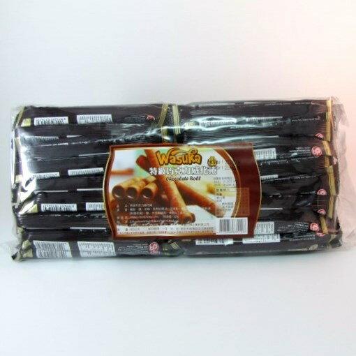 【橘町五丁目】 爆漿捲心酥 Wasuka 特級巧克力威化捲600g裝(50支)
