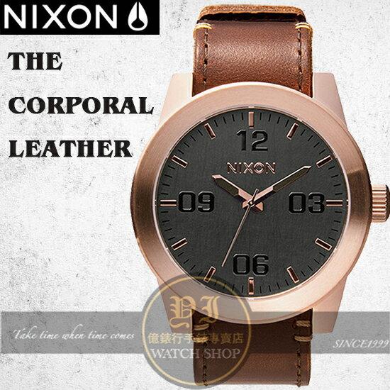 NIXON 實體店THE CORPORAL LEATHER腕錶A243-2001公司貨/極限運動/禮物/情人節