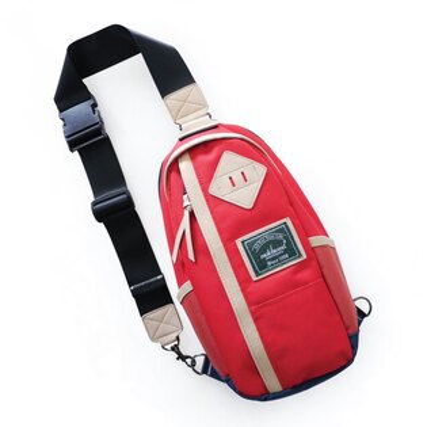 REMATCH - Matchwood Hunter 撞色單肩後背包 紅色款 斜背包 側背包 隨身包 胸前包 基本防水 / 運動 / 輕便 / 美式休閒 / 單車Fixed gear / Dickies / Porter / master-piece 可參考