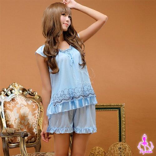 【伊莉婷】藍海情迷 小蓋袖二件式睡襯衣 NA09020119-1 0