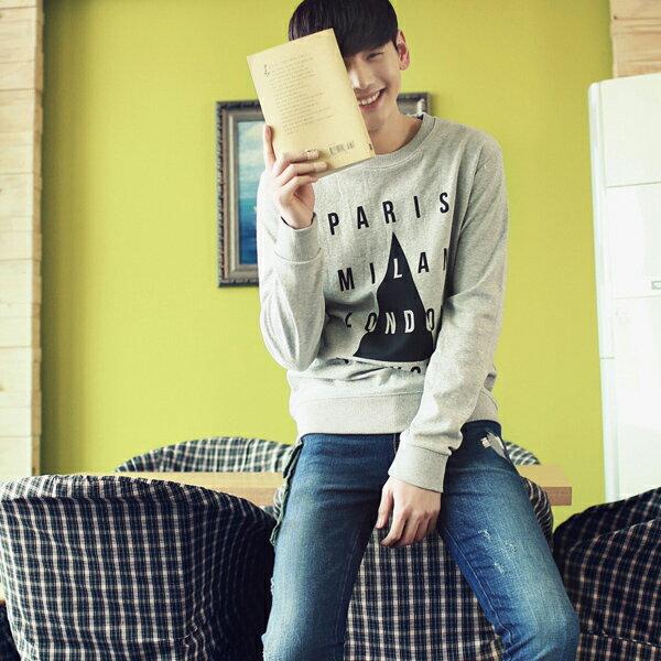 ◆快速出貨◆刷毛T恤 圓領刷毛 情侶T恤 暖暖刷毛 MIT台灣製.三角形四排字【YSD8135】可單買.艾咪E舖 2
