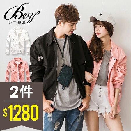 ☆BOY-2☆【NQ98043】情侶外套 美式潮流布章夾克外套 0