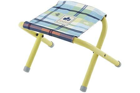 《台南悠活運動家》LOGOS 愛麗絲迷你格紋便攜椅 藍 野營椅 輕便椅 登山椅 折疊椅 73175031