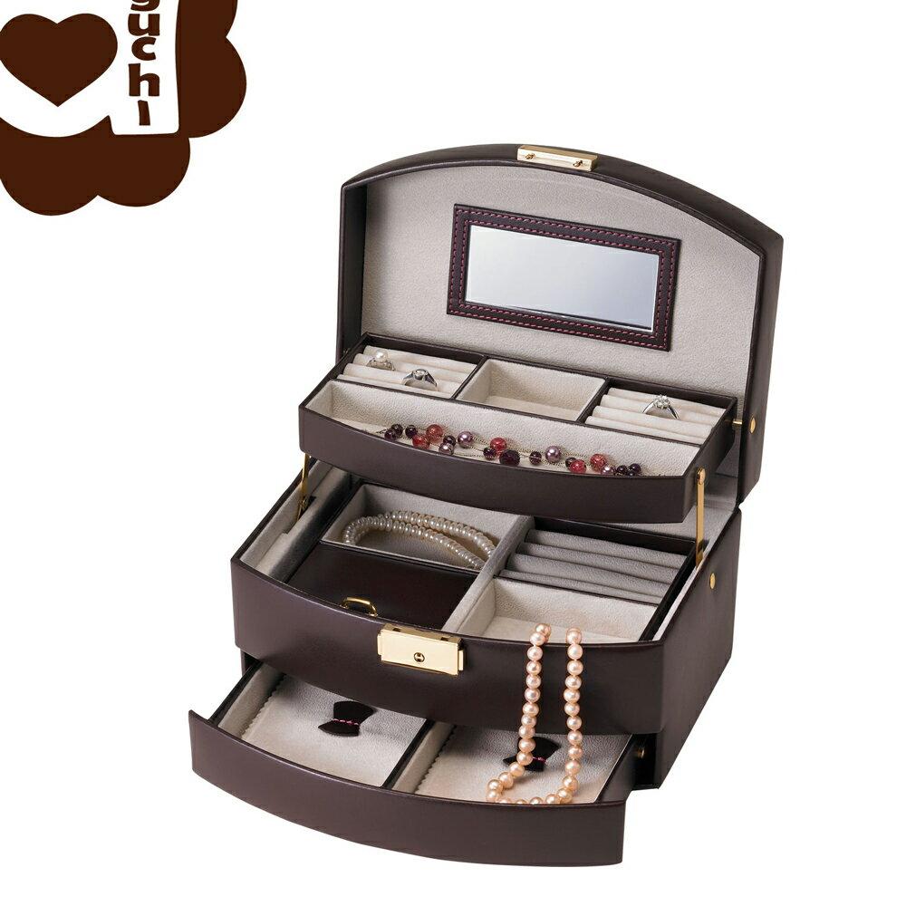 【亞古奇 Aguchi】皇家英倫雙組合-貴族棕 珠寶盒(氣質貴族系列) - 手工精品時尚設計珠寶盒/戒盒/耳環盒 2