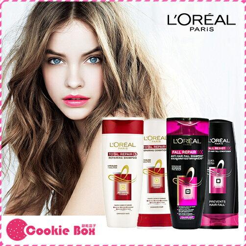 *餅乾盒子* 法國 l'oreal paris 巴黎 萊雅 深層 強化 洗髮精 潤髮乳 黑白瓶 修護 護髮 330ml