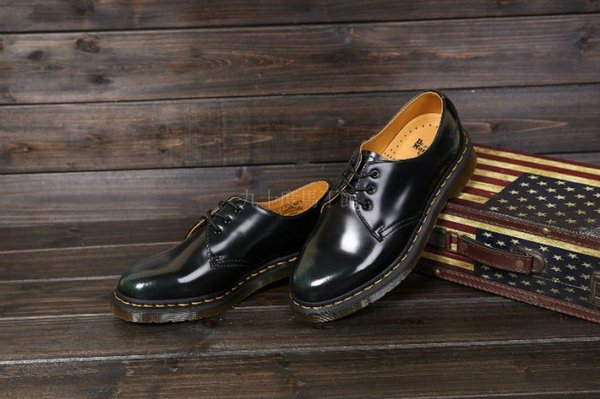 【九十度馬丁管】【兩日到貨】【免運】【3孔擦色酒綠】Dr. Martens馬丁馬汀靴子