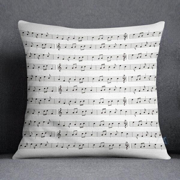 [IHERMI ] 音符樂譜A款抱枕 (45*45CM ) 愛好蜜  MIT台灣製造好安心 環保染劑使用 極細緻印染技術 0