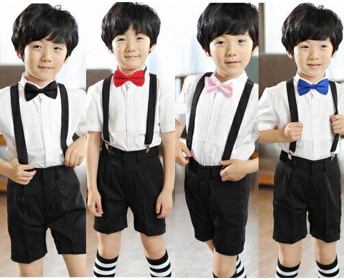 天使嫁衣【童T55】4色領結背帶夏季男花童禮服-預購訂製款