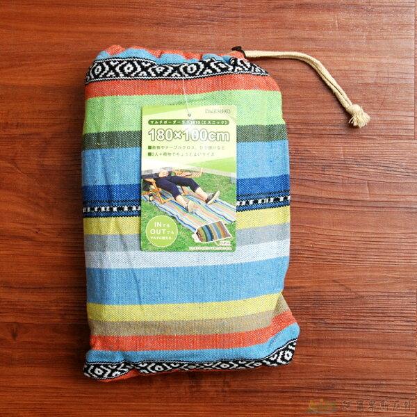 鹿牌 多用途野餐墊/睡墊/桌布/地毯 多彩條紋UP-2516 [阿爾卑斯戶外/露營] 土城