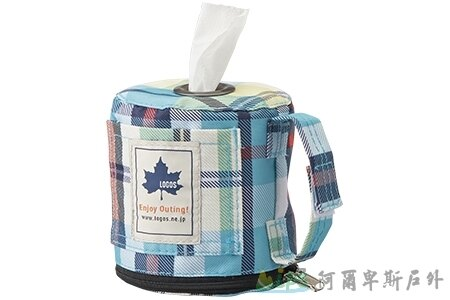 [阿爾卑斯戶外/露營] 土城 藍-愛麗絲格紋布 餐巾紙架/面紙盒/衛生紙架 73189010