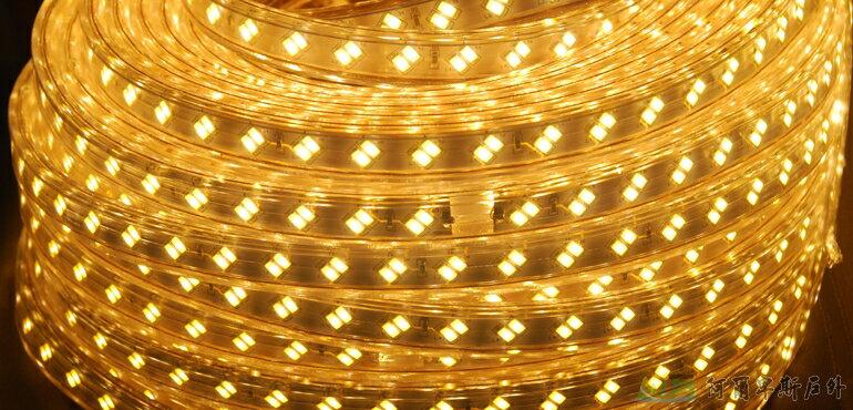 [阿爾卑斯戶外/露營] 土城 黃光 15M LED高效率防水條燈 / 露營燈 / 營帳燈 5030LED-15M-Y 0