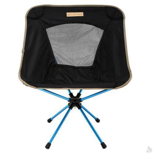 OutdoorBase AMOEBA-360度旋轉鋁合金摺疊休閒椅-低調黑-耐重120kg 25735 [阿爾卑斯戶外/露營] 土城 - 限時優惠好康折扣