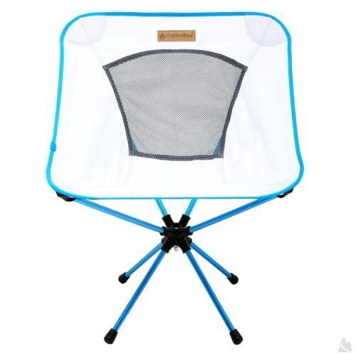 OutdoorBase AMOEBA-360度旋轉鋁合金摺疊休閒椅-雅典白-耐重120kg 25742 [阿爾卑斯戶外/露營] 土城 - 限時優惠好康折扣