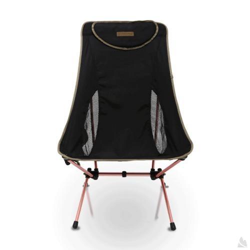 OutdoorBase AMOEBA-高背椅兩段傾斜角度-鋁合金摺疊休閒椅-低調黑-耐重120kg 25780 [阿爾卑斯戶外/露營] 土城 - 限時優惠好康折扣
