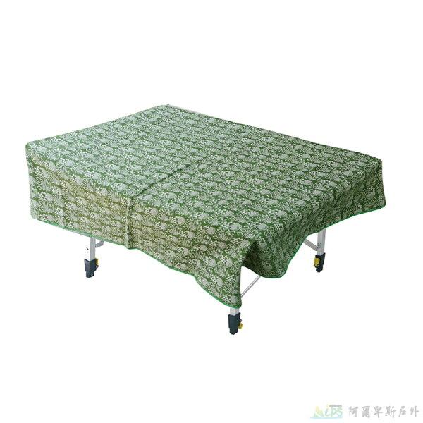 OutdoorBase漾彩防水桌布160x140cm(綠色幾何) 露營/海灘墊/戶外野餐/蛋捲桌桌布 26015 [阿爾卑斯戶外/露營] 土城