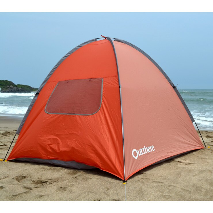 好野 Outthere沙灘遮陽帳-橘色 AB00101 [阿爾卑斯戶外/露營] 土城 - 限時優惠好康折扣