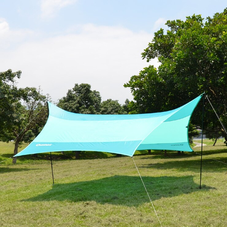 好野 Outthere蝶型天幕帳(大590 x 480cm )-青色-整套含柱繩釘AW00202 [阿爾卑斯戶外/露營] 土城 - 限時優惠好康折扣