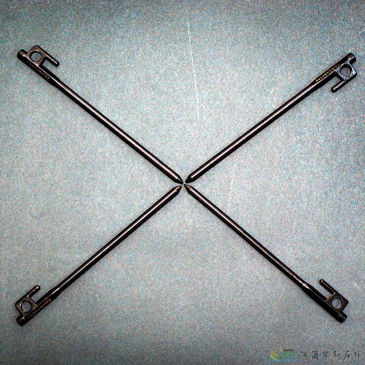 [阿爾卑斯戶外/露營] 土城 TNR 四支黑色鑄鐵釘20cm AE0007 - 限時優惠好康折扣