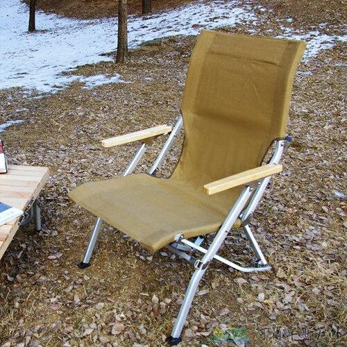 [阿爾卑斯戶外/露營] 土城 TNR 導演椅 折疊椅 靠背加厚-雙層布料卡其色 EA0032 - 限時優惠好康折扣