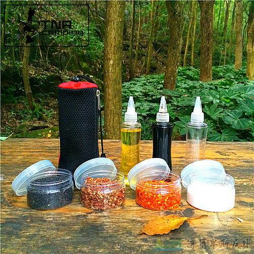 [阿爾卑斯戶外/露營] 土城 野炊料理 調味罐4件組/ 醬油瓶 醬汁調味瓶3件組 0
