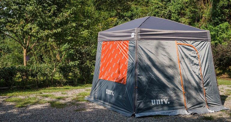 UNRV 第六代27秒速搭帳/客廳炊事帳 含防水頂布x1+邊圍布窗x1 [阿爾卑斯戶外/露營] 土城 EZup Vista - 限時優惠好康折扣