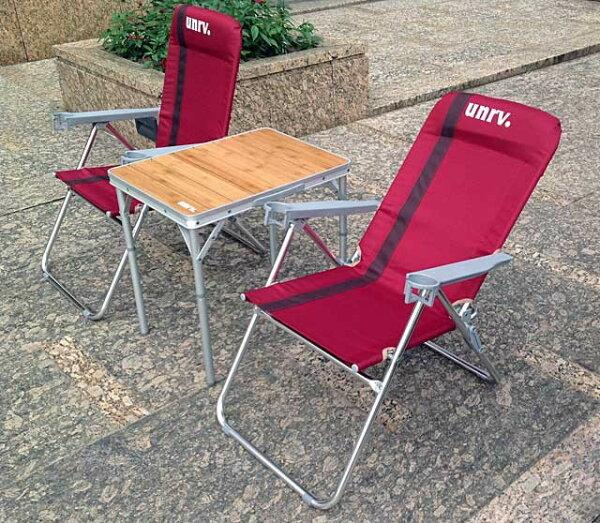 UNRV 三段躺椅 粉紅佳人折疊椅 EA0034 [阿爾卑斯戶外/露營] 土城