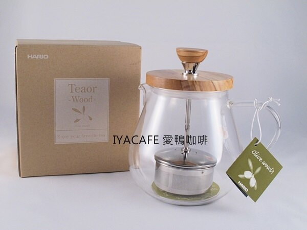 《愛鴨咖啡》HARIO TEO-70-OV 橄欖木 茶王 沖茶器 花茶壺 700ml