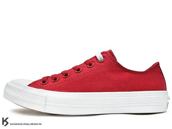 2016 最新 經典百搭 不敗基本款 CONVERSE CHUCK TAYLOR ALL STAR 2 II OX 低筒 紅白 帆布 LUNARLON 太空緩震鞋墊搭載 舒適度提升 匡威 帆布鞋 (150151C) 0716