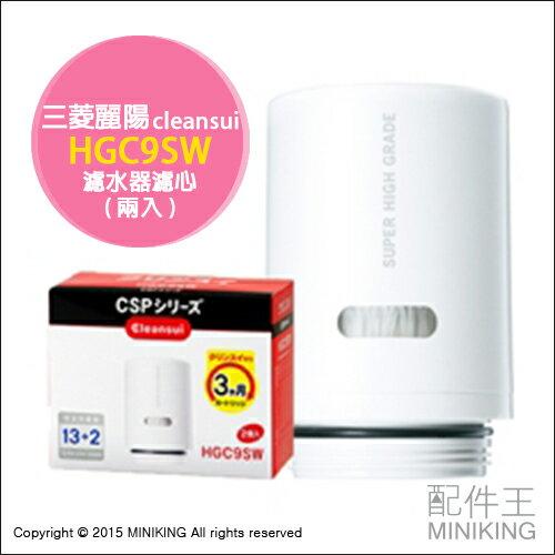 【配件王】日本代購 三菱麗陽 HGC9SW CSP系列淨水器濾心 (2顆裝) 過濾水質