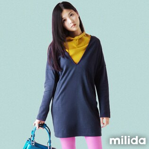 【milida】☆全館免運☆深V款☆上寬下緊洋裝