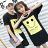 ◆快速出貨◆T恤.情侶裝.班服.MIT台灣製.獨家配對情侶裝.客製化.純棉短T.黃長框大微笑【Y0320】可單買.艾咪E舖 0