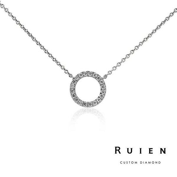 14K白金 設計款 輕珠寶鑽石項鍊 RUIEN 瑞恩珠寶