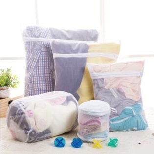 PS Mall 日韓 魔法方型洗衣袋 厚實立體蜂巢式衣物收納袋 細網 粗網 二件組【J040粗網 J042密網】