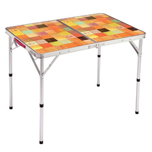 【露營趣】中和 附鋁合金手電筒 Coleman CM-26752 自然風摺桌/90 休閒桌 露營桌 摺疊桌 野餐桌