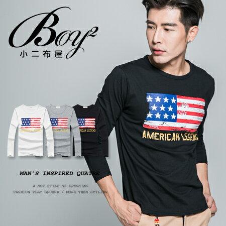 ☆BOY-2☆【NAL128】美國國旗斑駁長T 0