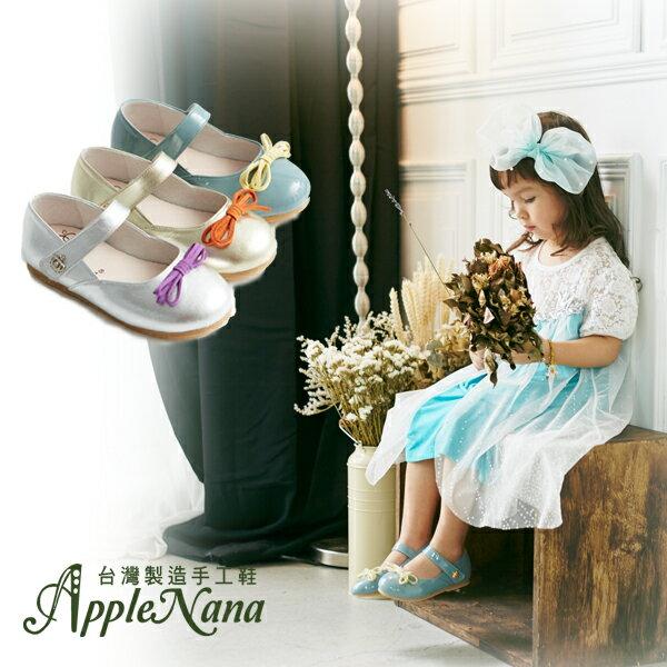 AppleNana。MIT手工童鞋。經典巴蕾舞女孩小皇冠全真皮娃娃鞋【QBC71611080】蘋果奈奈 1